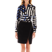 Worthington® Essential Button-Front Shirt or Zip-Front Envelope Skirt - Tall