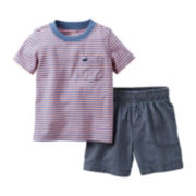 Carter's® Striped Tee and Short Set – Boys newborn-24m