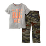 Carter's® Tee and Camo Pant Set – Boys newborn-24m
