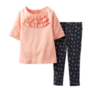 Carter's® Ruffle Top and Denim Jegging Set – Girls newborn-24m