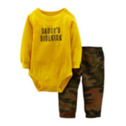 Carter's® Long-Sleeve Bodysuit and Camo Pant Set – Boys newborn-24m