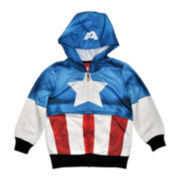Captain America Fleece Hoodie – Boys 2t-5t