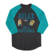 Despicable Me Minion Raglan Long-Sleeve Graphic Tee – Boys 6-18
