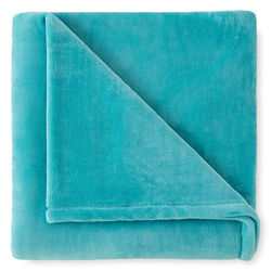 JCPenney Home™ Velvet Plush Turquoise Cove Throw