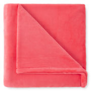 JCPenney Home™ Velvet Plush Scarlet Ibis Throw