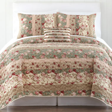 jcpenney.com | Home Expressions™ Sweet Floral Quilt & Accessories