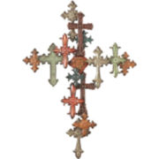 Layered Crosses Wall Decor