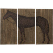 Distressed Horse 3-pc. Wall Decor Set