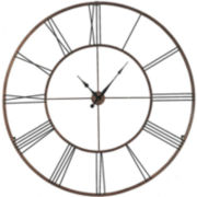 "Oversized 50"" Open Numeral Wall Clock"