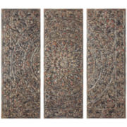 Distressed Medallion 3-pc. Wall Decor Set