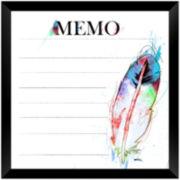 White Feather Memo Board