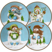 Evergreen Ernie Set of 4 Salad Plates