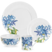 Royal Worcester® Blue Agapanthus 16-pc. Dinnerware Set