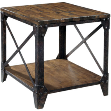"jcpenney.com | Ironwood Distressed Pine Rectangular 22"" End Table"