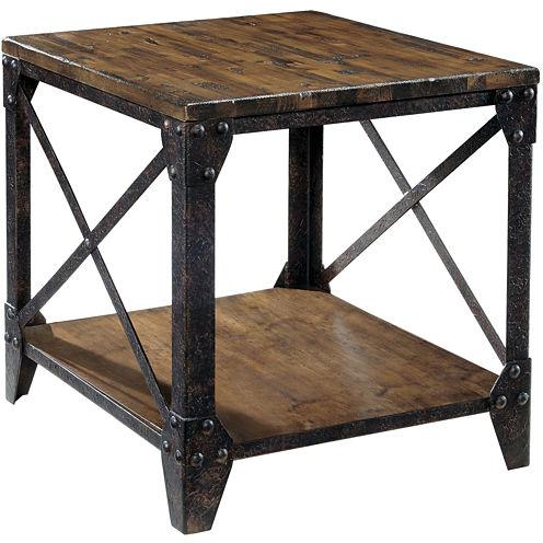 "Ironwood Distressed Pine Rectangular 22"" End Table"