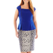 Worthington® Zip-Front Peplum Top or Pencil Skirt - Plus