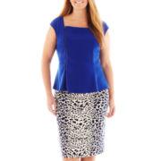 Worthington® Zip-Front Peplum Top or Pencil Skirt - Plus