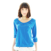 Joe Fresh™ Striped Peasant Top