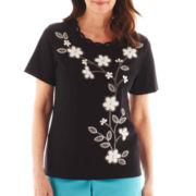 Alfred Dunner® St. Barth's Floral Striped Top