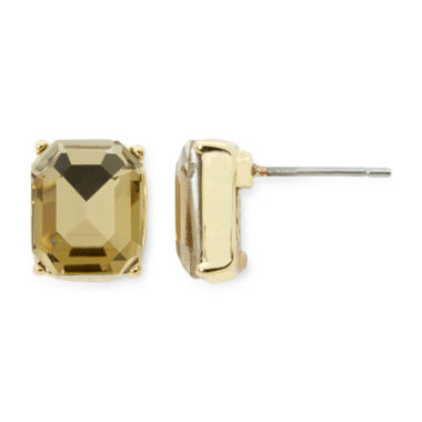 jcpenney.com | Monet® Light Brown Crystal Gold-Tone Stud Earrings