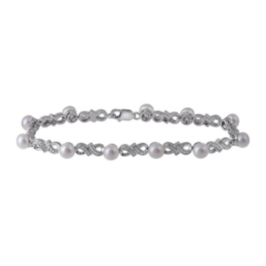 jcpenney.com | Cultured Freshwater Pearl and Diamond-Accent Bracelet