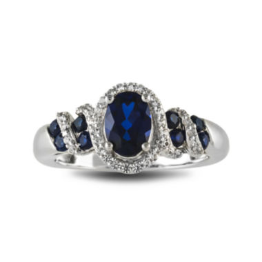 jcpenney.com | Lab-Created Blue and White Sapphire Sterling Silver Ring