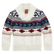 Arizona Tribal-Print Sweater - Toddler Boys 2t-5t