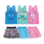 Okie Dokie® Tank Top or Skort - Preschool Girls 4-6x