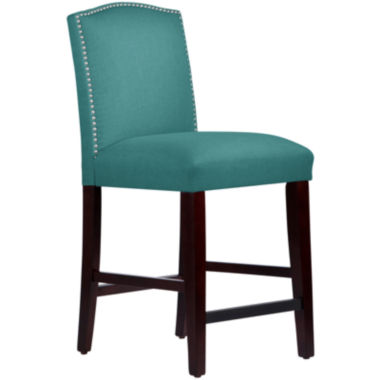 jcpenney.com | Liesel Upholstered Barstool with Nailhead Trim