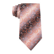 Van Heusen® Shaded Vines Silk Tie - Extra Long