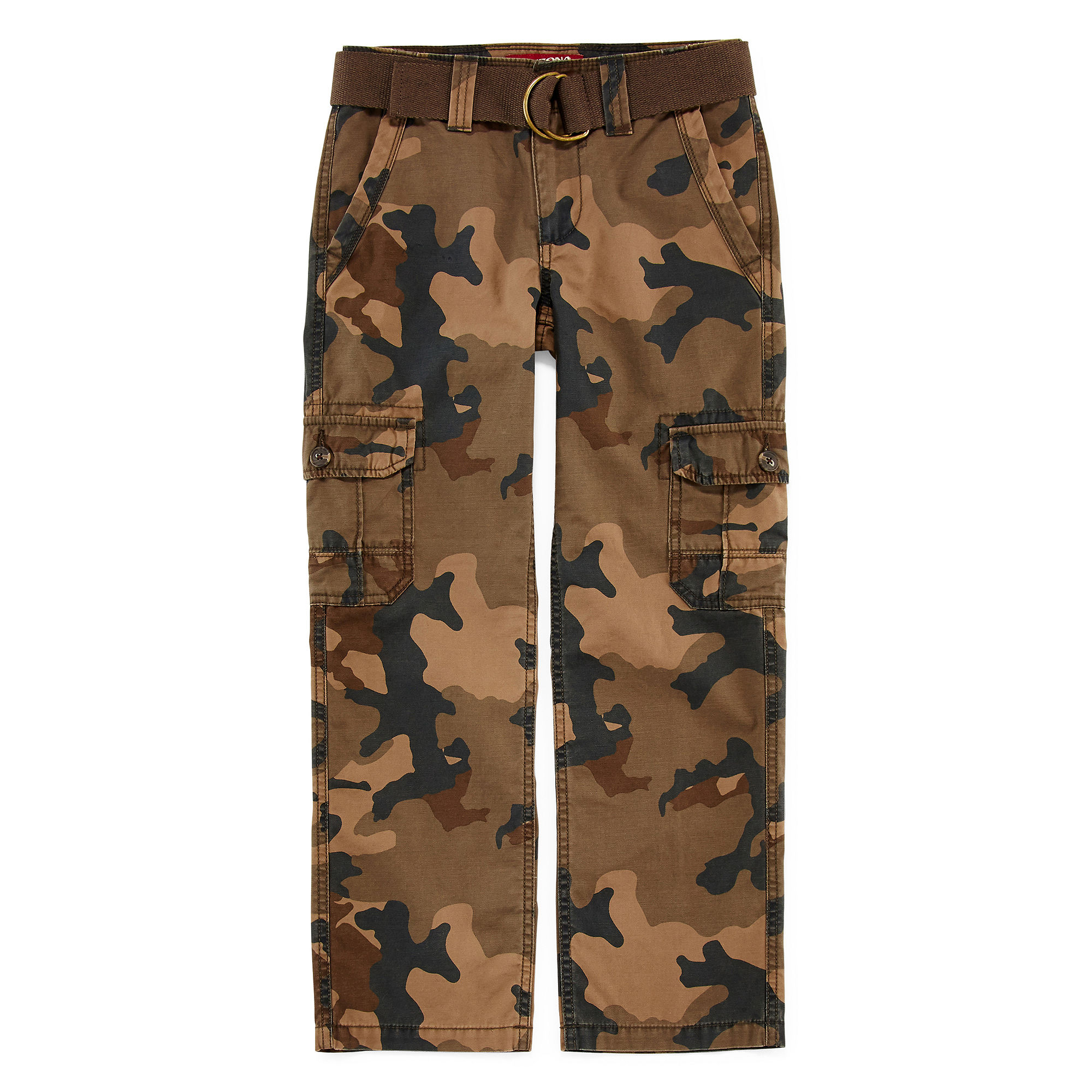 Arizona Belted Cargo Pants - Boys 8-20,  Slim and Husky plus size,  plus size fashion plus size appare