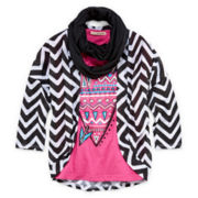 Self Esteem® Tee, Shrug and Scarf - Girls 7-16 and Plus