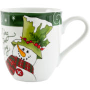 Fitz and Floyd® 2-pc. Holly Hat Snowman Coffee Mug Set