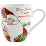 Fitz and Floyd® 2-pc. Santa's Big Day Coffee Mug Set