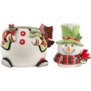 Fitz and Floyd® Holly Hat Snowman Cookie Jar