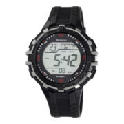 Armitron® ProSport Mens Black Resin Chronograph Digital Watch