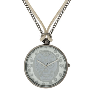 jcpenney.com | Decree® Skeleton Pendant Watch Necklace