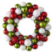 Christmas Traditions Plastic Ball Wreath