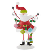 Holiday Glitz Santa Figurine