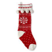 Pom-Pom Snowflake Stocking