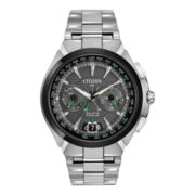 Citizen® Satellite Wave-Air Eco-Drive™ Mens Silver-Tone Watch CC1084-63E