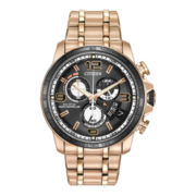 Citizen® Eco-Drive® Chrono Time A-T Mens Rose-Tone Watch BY0108-50E