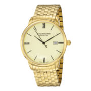 Stührling® Mens Gold-Tone Stainless Steel Watch