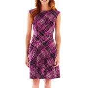 R&K Originals® Sleeveless Plaid Fit-and-Flare Dress