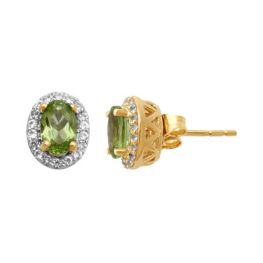 jcpenney.com | Peridot & Lab-Created White Sapphire Stud Earrings