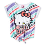 Hello Kitty® Striped Tie-Front Top - Girls 4-14
