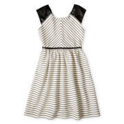 Speechless® Leather Shoulder Striped Dress - Girls 7-16