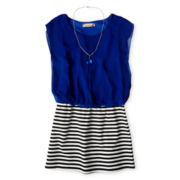 Speechless® Striped Skirt Necklace Dress - Girls 7-16