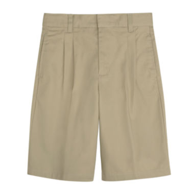 jcpenney.com | French Toast® Pleated Shorts – Boys 8-20 and 10-20 Husky