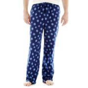 Stafford® Flannel Sleep Pants–Snowflakes–Big & Tall